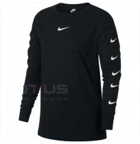 ДАМСКА БЛУЗА NIKE NSW SWSH TOP LS BLACK