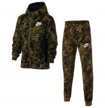 ДЕТСКИ СПОРТЕН ЕКИП NIKE NSW TRK SUIT CLUB FLEECE AOP OLIVE
