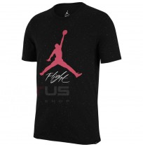 МЪЖКА ТЕНИСКА NIKE JORDAN JSW TEE FLIGHT CEMENT AOP BLACK