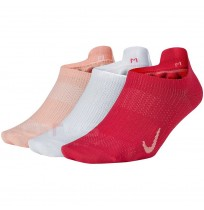 ЧОРАПИ NIKE EVERYDAY PLUS LTWT NS 3PR CORAL/WHITE/RED