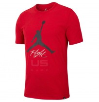 МЪЖКА ТЕНИСКА NIKE JORDAN JSW TEE FLIGHT CEMENT AOP RED