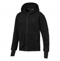 МЪЖКО ГОРНИЩЕ PUMA FERRARI LIFE MIDLAYER SWEAT JACKET BLACK