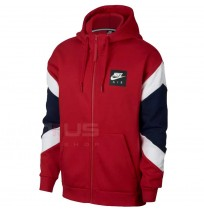 МЪЖКО ГОРНИЩЕ NIKE NSW NIKE AIR HOODIE FZ FLC RED
