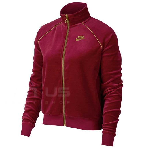 ДАМСКО ГОРНИЩЕ NIKE NSW TRK JKT VELOUR RED