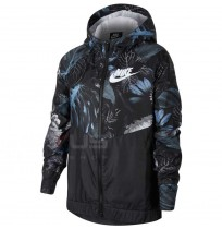 ДЕТСКО ЯКЕ NIKE NSW WR JKT HD AOP1 SLATE/BLACK