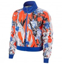 ДАМСКО ГОРНИЩЕ NIKE NSW HYP FM JKT PK AOP BLUE/RED