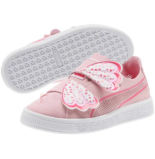 ДЕТСКИ ОБУВКИ PUMA SUEDE DECONSTRUCT BUTTERFLY V PINK