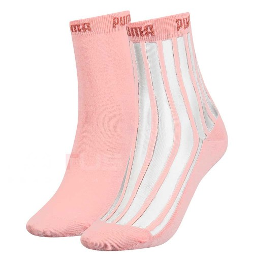 ЧОРАПИ PUMA WOMEN SHORT SOCK T 2P PEACH