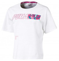 ДЕТСКА ТЕНИСКА PUMA ALPHA GRAPHIC TEE G WHITE