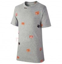 ДЕТСКА ТЕНИСКА NIKE NSW TEE SHOEBOX AOP GREY