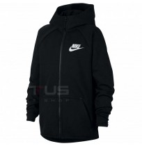 ДЕТСКО ГОРНИЩЕ NIKE NSW TCH FLC FZ ESSENTIALS BLACK