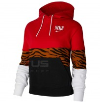 ДАМКА БЛУЗА NIKE NSW ESSNTL HOODIE PO FT GX BLACK/RED