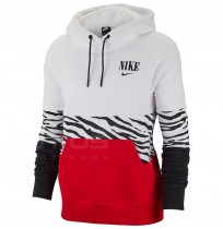 ДАМКА БЛУЗА NIKE NSW ESSNTL HOODIE PO FT GX WHITE/RED
