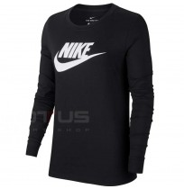 ДАМСКА БЛУЗА NIKE NSW TEE ESSNTL LS ICON FTR BLACK
