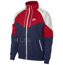 МЪЖКО ЯКЕ NIKE NSW HE WR JKT HD + NAVY/RED/WHITE