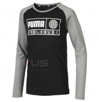 ДЕТСКА БЛУЗА PUMA ALPHA GRAPHIC LONGSLEEVE TEE BLACK