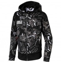 ДЕТСКО ГОРНИЩЕ PUMA ALPHA AOP SWEAT JACKET FL B BLACK