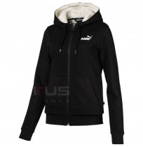 ДАМСКО ГОРНИЩЕ PUMA ESS+ SHERPA HOODED JACKET BLACK