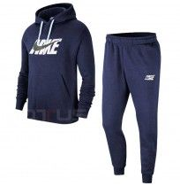 МЪЖКИ СПОРТЕН ЕКИП NIKE NSW CE TRK SUIT HD FLC GX NAVY