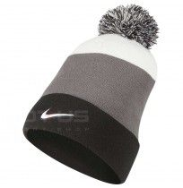 ЗИМНА ШАПКА NIKE BEANIE SSNL POM BLACK/GREY/WHITE