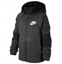 ДЕТСКО ГОРНИЩЕ NIKE NSW TCH FLC FZ WINTERIZED BLACK