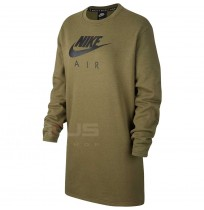 ДАМСКА РОКЛЯ NIKE NSW AIR CREW DRESS BB FLC OLIVE