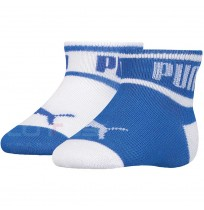 ДЕТСКИ ЧОРАПИ PUMA BABY WORDING SOCK WHITE/BLUE