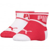 ДЕТСКИ ЧОРАПИ PUMA BABY WORDING SOCK WHITE/RED