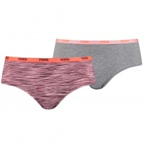 ДАМСКИ БИКИНИ PUMA HIPSTER 2P PACKED BOXER PINK/GREY