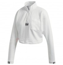 ДАМСКА БЛУЗА ADIDAS CROPPED SWEAT WHITE