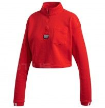 ДАМСКА БЛУЗА ADIDAS CROPPED SWEAT RED