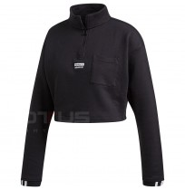 ДАМСКА БЛУЗА ADIDAS CROPPED SWEAT BLACK