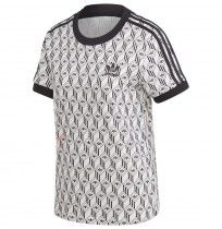 ДАМСКА ТЕНИСКА ADIDAS 3 STRIPES TEE WHITE/BLACK