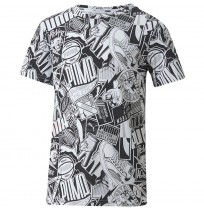 ДЕТСКА ТЕНИСКА PUMA ALPHA AOP TEE B BLACK/WHITE