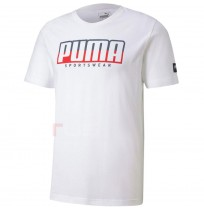 МЪЖКА ТЕНИСКА PUMA ATHLETICS TEE BIG LOGO WHITE