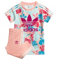 ДЕТСКИ СПОРТЕН ЕКИП ADIDAS TEE DRESS SET PINK/MULTICOLOR