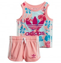 ДЕТСКИ СПОРТЕН ЕКИП ADIDAS TANK SHORT SET PINK/MULTICOLOR