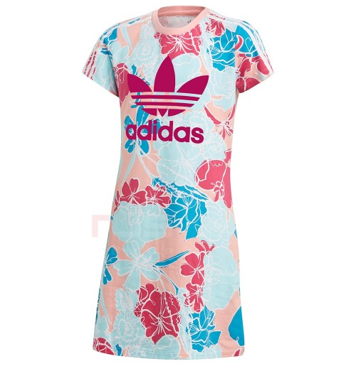 ДЕТСКА РОКЛЯ ADIDAS DRESS PINK/MULTICOLOR