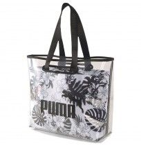 ДАМСКА ЧАНТА PUMA WMN CORE TWIN SHOPPER BAG WHITE/BLACK