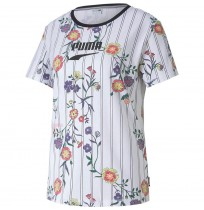 ДАМСКА ТЕНИСКА PUMA DOWNTOWN AOP TEE WHITE