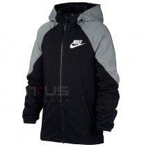 ДЕТСКО ГОРНИЩЕ NIKE NSW MIXED MATERIAL FZ BLACK