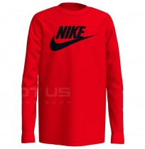 ДЕТСКА БЛУЗА NIKE NSW TEE LS FUTURA RED