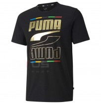МЪЖКА ТЕНИСКА PUMA REBEL TEE 5 CONTINENTS BLACK
