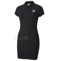 ДАМСКА РОКЛЯ PUMA CLASSICS RIBBED TIGHT SS DRESS BLACK