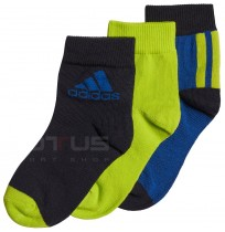 ДЕТСКИ ЧОРАПИ ADIDAS ANKLE S 3PP BLUE/GREEN/INK