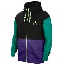 МЪЖКО ГОРНИЩЕ NIKE JORDAN JUMPMAN AIR FLEECE FZ BLACK/GREEN/PRPL