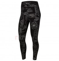 ДАМСКИ КЛИН NIKE NSW ICN CLSH HW TIGHT AOP BLACK/WHITE