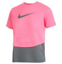ДЕТСКА ТЕНИСКА NIKE DRY TROPHY SS TOP SS PULSE/GREY