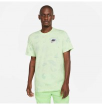 МЪЖКА ТЕНИСКА NIKE NSW TEE SPRING BREAK AOP LT LIME