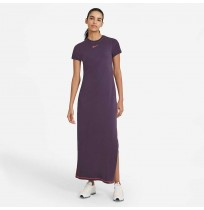 ДАМСКА РОКЛЯ NIKE NSW ICN CLSH MAXI DRESS DK RAISIN